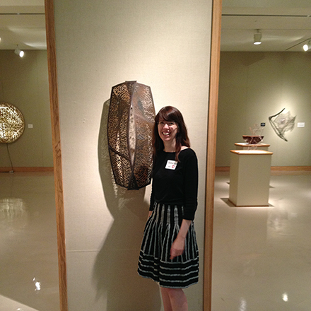 Jennifer with Near at the Forming exhibit