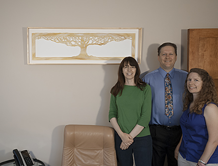 in situ photo of Beginning at Vincent Urban Walker Insurance, WI with Jennifer Falck Linssen, Dave and Michelle Anderson