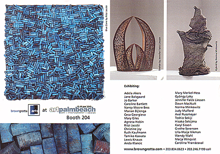 browngrotta arts - Art Palm Beach 2010 postcard