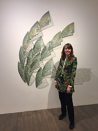Jennifer Falck Linssen :: Chicago Art Source Gallery opening reception, Tall Grass Prairie